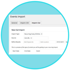 iCal Importer for Events Calendar Pro