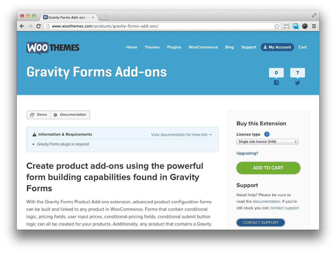 WooCommerce Gravity Forms Add-ons v3 3 7