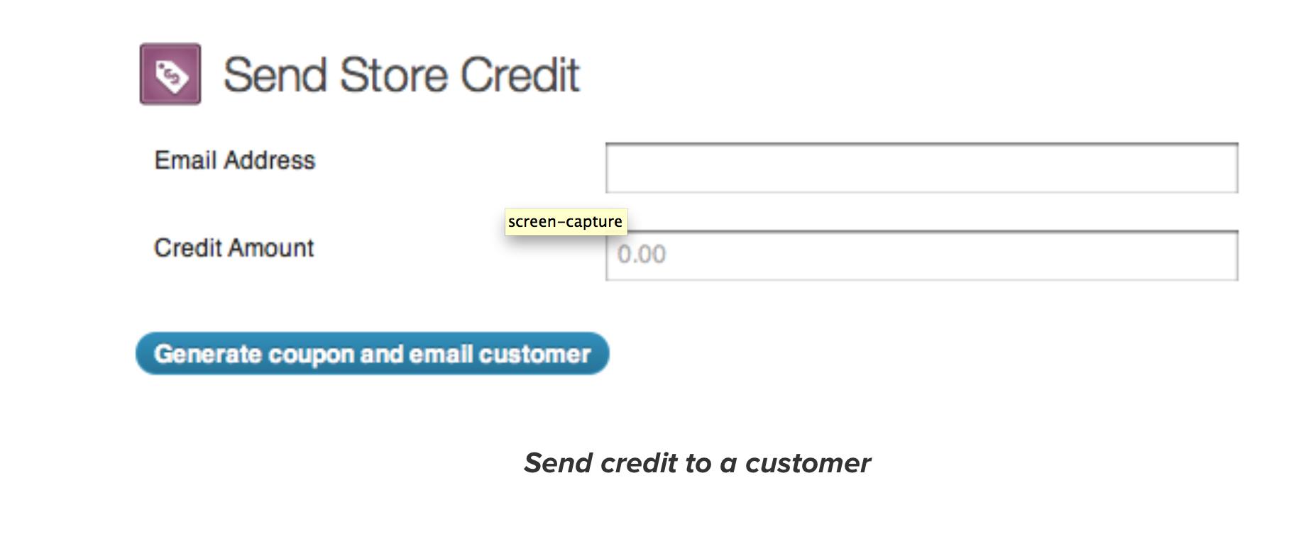 WooCommerce Store Credit Send Store Credit